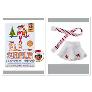 The Elf on the Shelf Tradition Brown Eyed Girl  Bundle with Snowflake Skirt