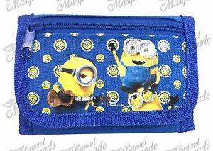 Minions Bob Kevin & Stuart Kids Tri-Fold Wallet Coin Purse Bag