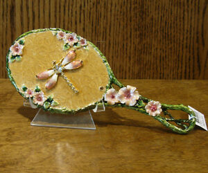 """Welforth #M053 DRAGONFLY HAND MIRROR, 7.25"""" long w/ handle NIB From Retail Store"""