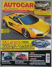 Autocar 29/10/2008 featuring IFR Aspid, Renault Laguna Coupe, Honda Jazz