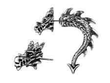 Tor Dragon Faux Ear Stretcher Earring - Alchemy Gothic Jewellery E324