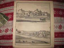 ANTIQUE 1876 JERUSALEM POTTER YATES COUNTY NEW YORK LITHOGRAPH PRINT SUPERB NR