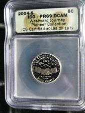 2004-s JEFFERSON NICKEL, PEACE DESIGN TYPE, ICG PR69 DCAM. First Date Issue.