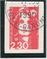 SUR FRAGMENT DE L'ESTAMP / TIMBRE FRANCE OBLITERE N° 2630 TYPE MARIANNE / CARNET