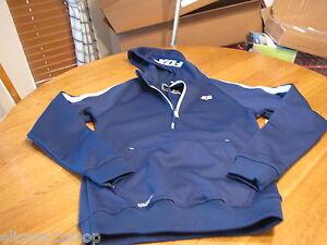 Men's Fox Racing hoodie thermabond logo jacket coat RARE FOXTECH S blue $84.50
