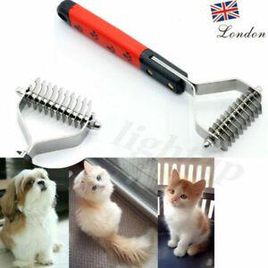 Dog Pet Cat Hair Rake Remover Grooming Deshedding Comb Fur Dematting Brush Tool