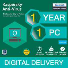 Kaspersky AntiVirus 2019 (1PC) Best Security Genuine Authentic License Windows
