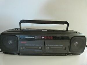 Sanyo MW801F Stereo Double Cassette Recorder/Player Radio Boombox