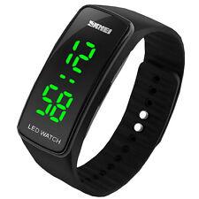 Armbanduhr LED Digital Uhr Herren Damen Kinder Sport Trend Silikon Uhr Watch