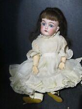 """Antique German Kestner Rarer Mold 129, Original Clothing Blue Eyes 15"""" S809 Pd"""
