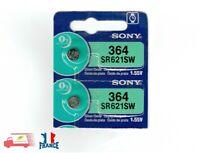 2x Piles Montre SONY 364 SR621SW Argent AG1 SR60 LR60 SR621 GP364 V364 SG1 1.55V