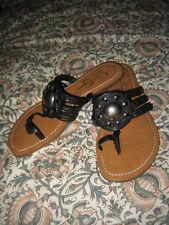 Jessica Simpson Black Leather Silver Stud Embellished Sandal. Jaysie. 7.5 NWOB
