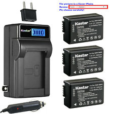 Kastar Battery LCD AC Charger for Panasonic DMW-BMB9 & Panasonic Lumix DC-FZ80