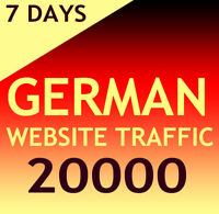 +20000 deutsche Website Aurufe (7 Tage/Days) Organic target german web traffic