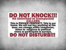 WP_FUN_145 DO NOT KNOCK/DISTURB!!! - Great sign to deter door salesman etc. - Me