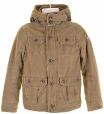 ABERCROMBIE & FITCH Boys Military Jacket 15-16 Years Large Green Cotton  HL04