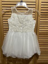 American Girl white frilly dress size 6 Excellent Condition!!