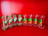 🔴 Set bicchieri pubblicitari anni 70 bibite fabbri + toschi amarene fragole