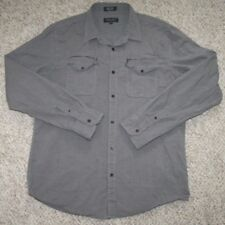 XL Extra Large Long Sleeve Eighty Eight Gray Dress Shirt Two Pocket Man's Top