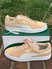 puma suede classic women natural suede whisper white nude size 38.5/8 new in box