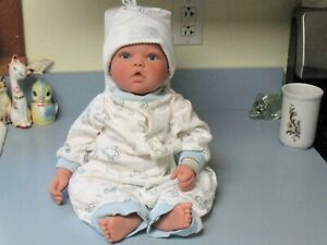 Adorable LEE MIDDLETON 1998 Baby Boy Doll, Brown Hair Blue Eyes, #021898, Reva