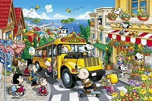 1000 Piece Jigsaw Puzzle PEANUTS Happy School Bus (50 x 75 cm)