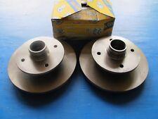 2 Disques de freins avant Lucas pour Mazda Montrose, 626, Mitsubishi Galant,