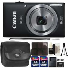 Canon IXUS 185 / ELPH 180 20MP Digital Camera Black and Accessory Bundle