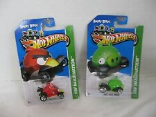 Hot Wheels Imagination Angry Birds Red Bird Green Minion Lot of 2  NOC HW#10