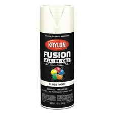 KRYLON K02711007 Rust Preventative Spray Paint, Ivory, Gloss, 12 oz.