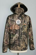 New YOUTH Mossy Oak Break-Up Country Hoodie w/ Built-In Face Neck Gaiter Camo