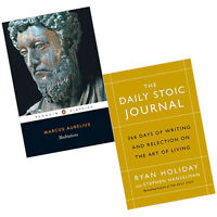 Meditations,Daily Stoic Journal 366 Days of Writing 2 Books Collection Set New