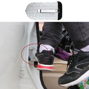 Folding Car Door Latch Hook Step Pedal Ladder For Jeep Truck SUV Roof Silver