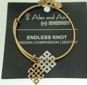 Alex and Ani Endless Knot Russian Gold Bracelet Wisdom Compassion Destiny