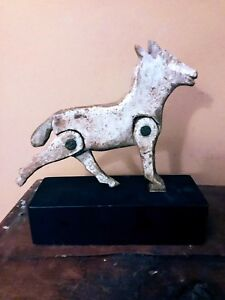 Old Wood Carved Folk Art Whimsy or Toy of Horse with moveable legs-Unique