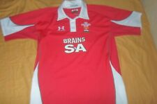 WALES 2008 HOME UNION RUGBY SHIRT UNDER ARMOUR JERSEY SIZE ADULT L