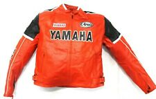 YAMAHA Motorbike/Motorcycle Leather Jacket Biker Racing Leather Jackets 2XL