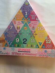 Lip Smacker Christmas Advent Calendar 12 Days of Kissmas Lip Balm Shine Set Gift