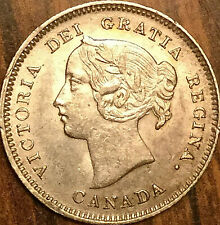 1900 CANADA SILVER 5 CENTS COIN - Oval 00 - Fantastic example!
