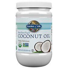 Garden of Life Organic Extra Virgin Coconut Oil - Unrefined Cold Pressed Coconut