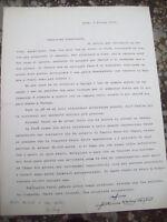 1970 92) LETTERA DI ANTONIO MARIA VEGLIO' DA MACERATA FELTRIA TERREMOTO IN PERU'