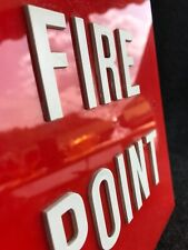 Vintage Industrial Salvaged 1950s  Perspex FIRE POINT Sign