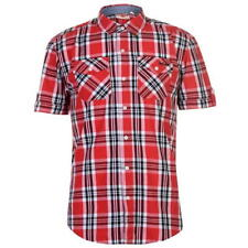 89acfc82bc82a5 Mens Lee Cooper Chest Pockets Short Sleeve Checked Cotton Shirt Top Sizes  S-XXXL