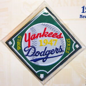 1947 WORLD SERIES NEW YORK YANKEES vs BROOKLYN DODGERS Willabee Ward PATCH ONLY