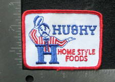 """HUSHY HOME STYLE FOODS EMBROIDERED SEW ON ONLY PATCH COMPANY 3 1/2"""" x 2 1/2"""""""