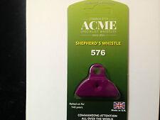 Acme 576 púrpura plástico pastores Boca labio silbato