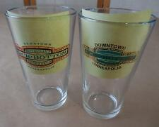 (2) Rock Botom Brewery Pint Beer Glasses - Downtown Indianapolis & Minneapolis
