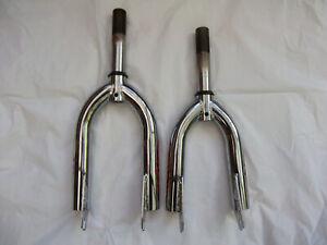 "New 12"" 14"" Bike CHROME RIGID FORKS, 1"" x 122mm Threaded, caliper brake 8mm Axle"