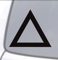 TRIANGLE Vinyl Decal Sticker Car Window Wall Bumper Christian Faith Symbol God