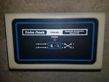 Radio Shack TRS-80 Printer Interface Selector Model No. 26-1498